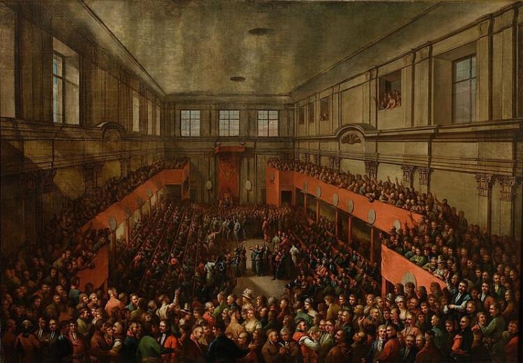 Uchwalenie Konstytucji 3 maja 1791 roku, obraz Kazimierza Wojniakowskiego z 1806 roku