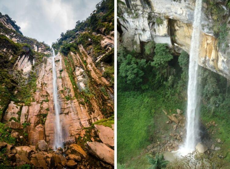 wodospad Catarata Yumbilla jest jednym do najwyższych wodospadów na świecie