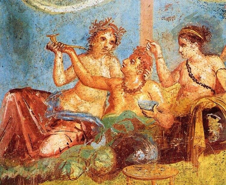 starożytni Rzymianie jadali na leżąco