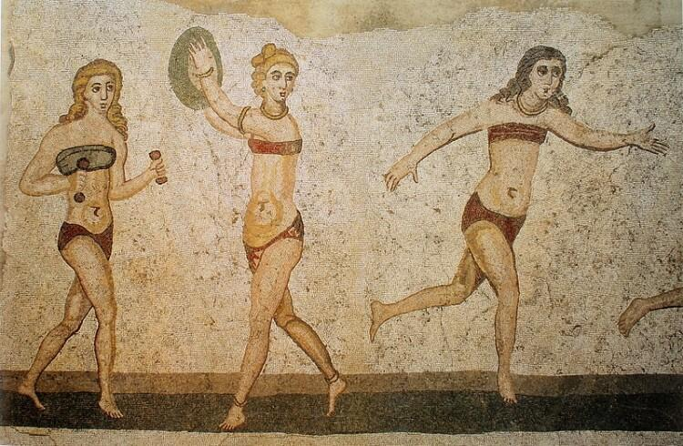 bikini w starożytnym Rzymie