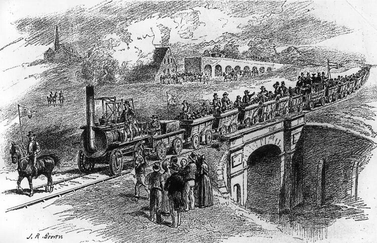 Uroczyste otwarcie linii kolejowej łączącej Stockton i Darlington
