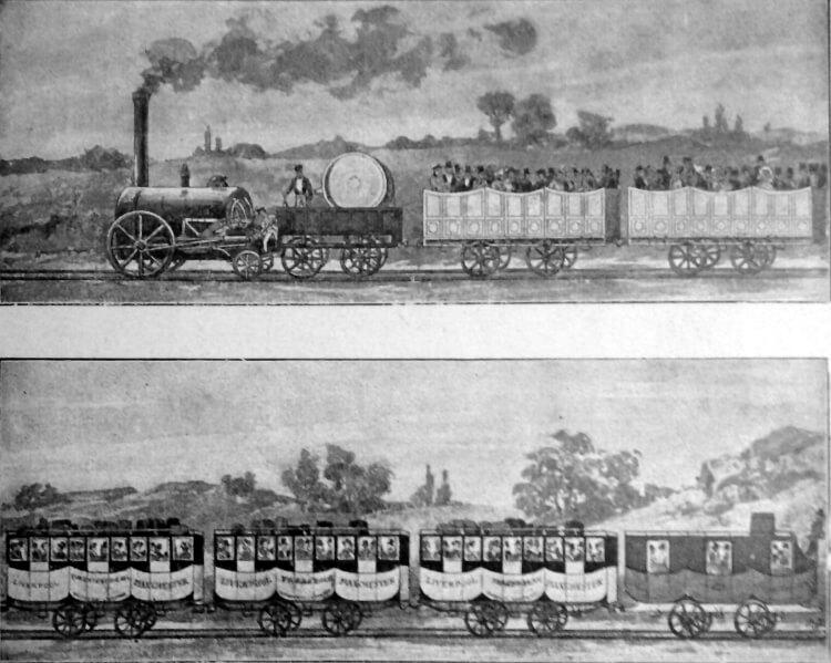 kolej w 1830 roku