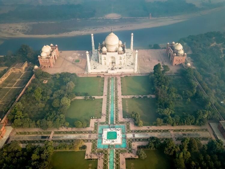 Tadź Mahal widziane z lotu ptaka