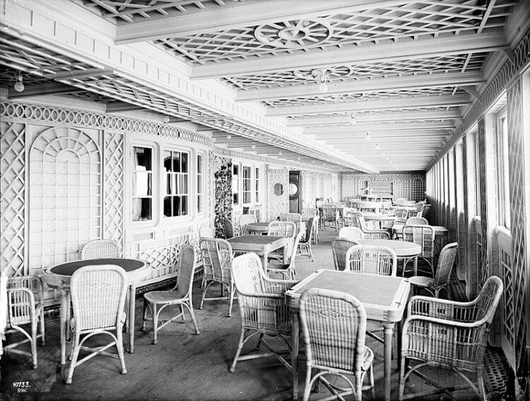 Cafe Parisien na pokładzie Titanica