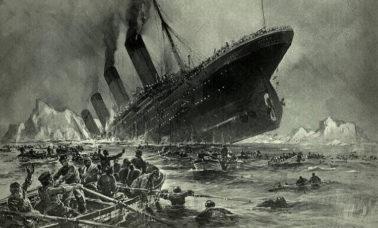 tonący titanic