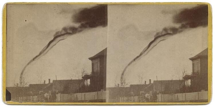 Pierwsze w historii zdjęcie trąby powietrznej