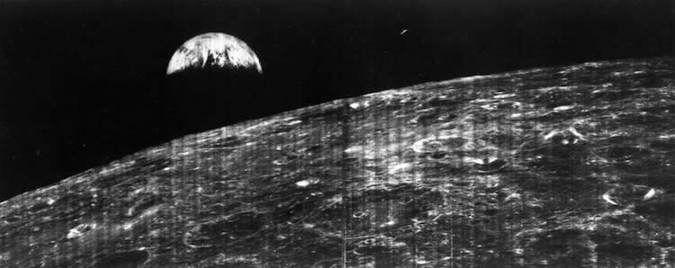 pierwsze zdjęcie Ziemi wykonane z kosmosu