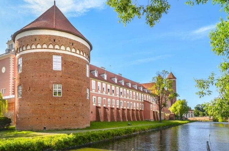 Średniowieczny gotycki zamek w Lidzbarku Warmińskim