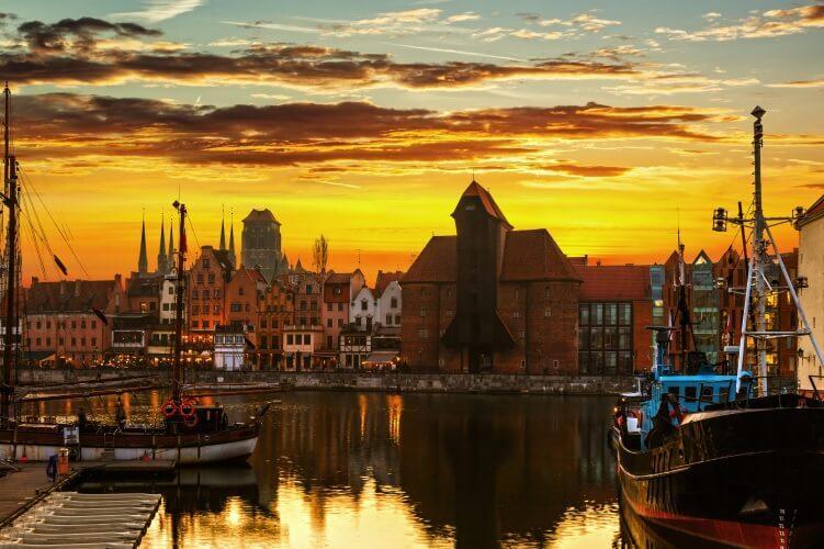 Gdańsk - widok na stare miasto