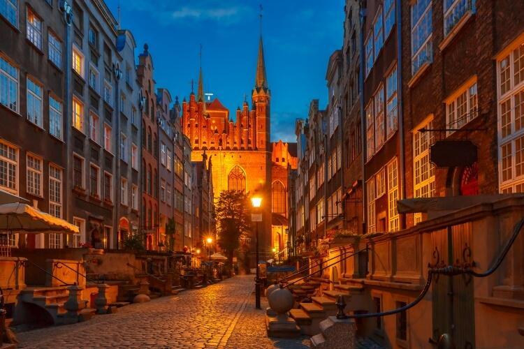 Gdańsk stare miasto ulica Mariacka