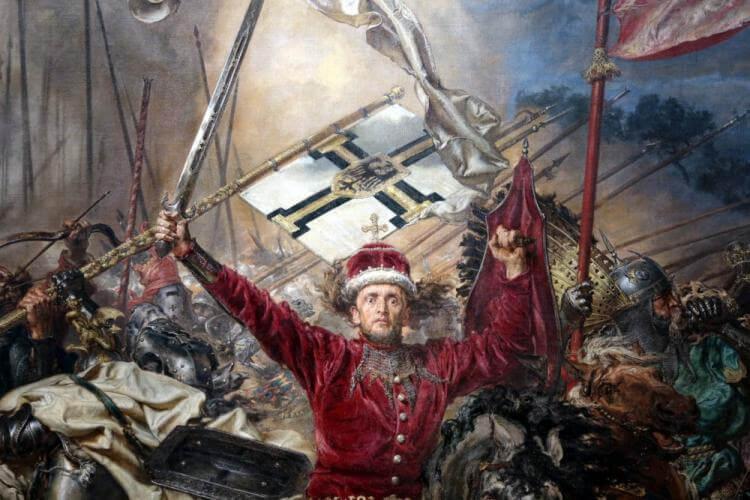 "Fragment obrazu ""Bitwa pod Grunwaldem"" Jana Matejki"