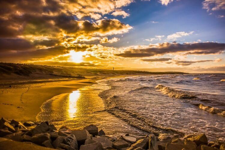 plaża w okolicach Ustki