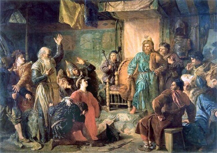 Uwięzienie Kiejstuta i Witolda przez Jagiełłę – obraz Wojciecha Gersona