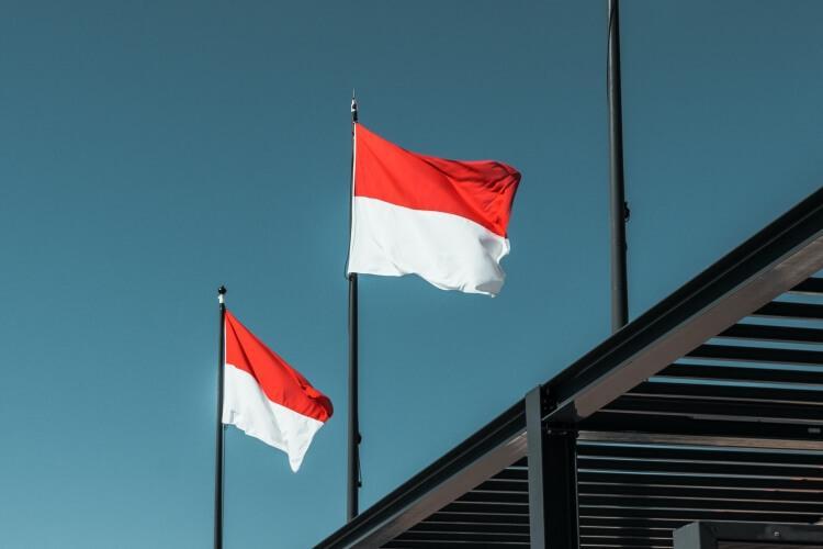 flaga Monako