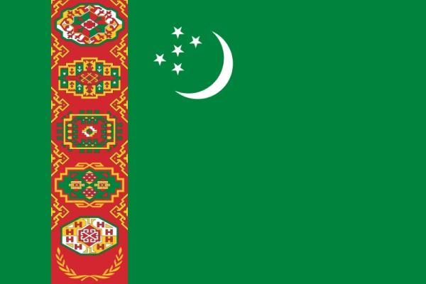 flaga Turkmenistanu