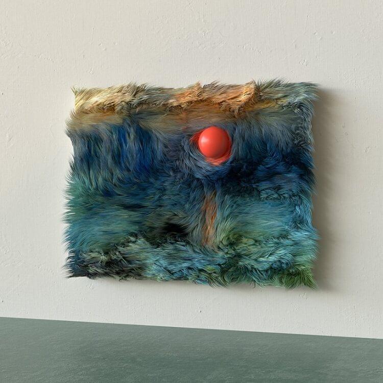 Futrzana wersja obrazu Claude'a Monet'a