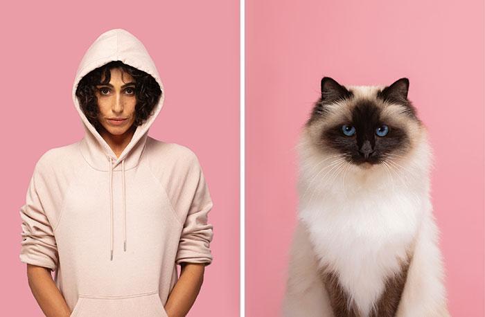 zabawne zdjęcia kotów i ludzi