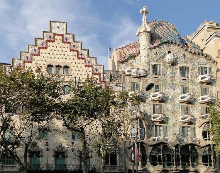 Casa Amatller i Casa Batlló w Barcelonie