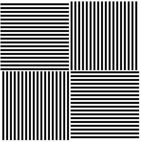 złudzenia optyczne - Efekt McCollough