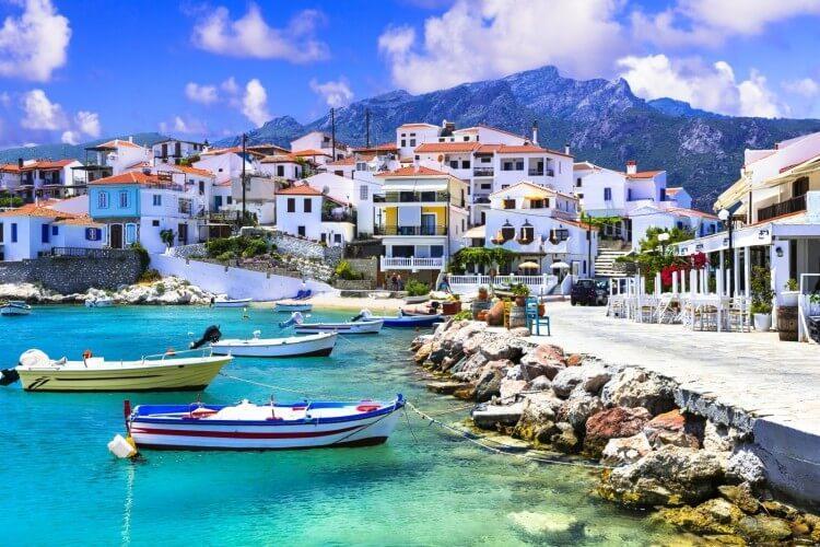 Kokkari na wyspie Samos