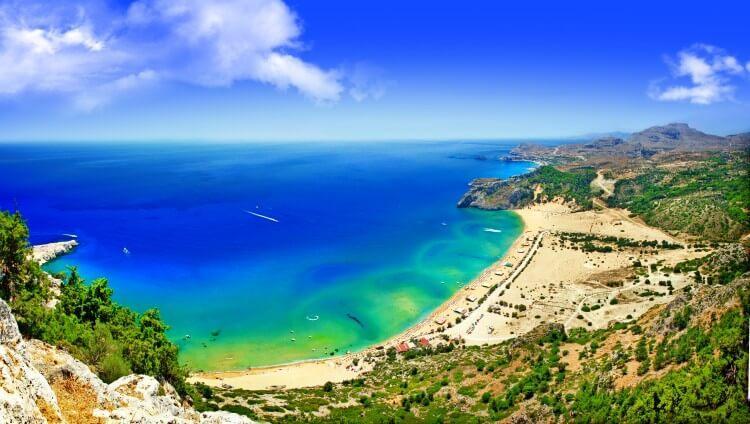 Rodos plaża Tsambika