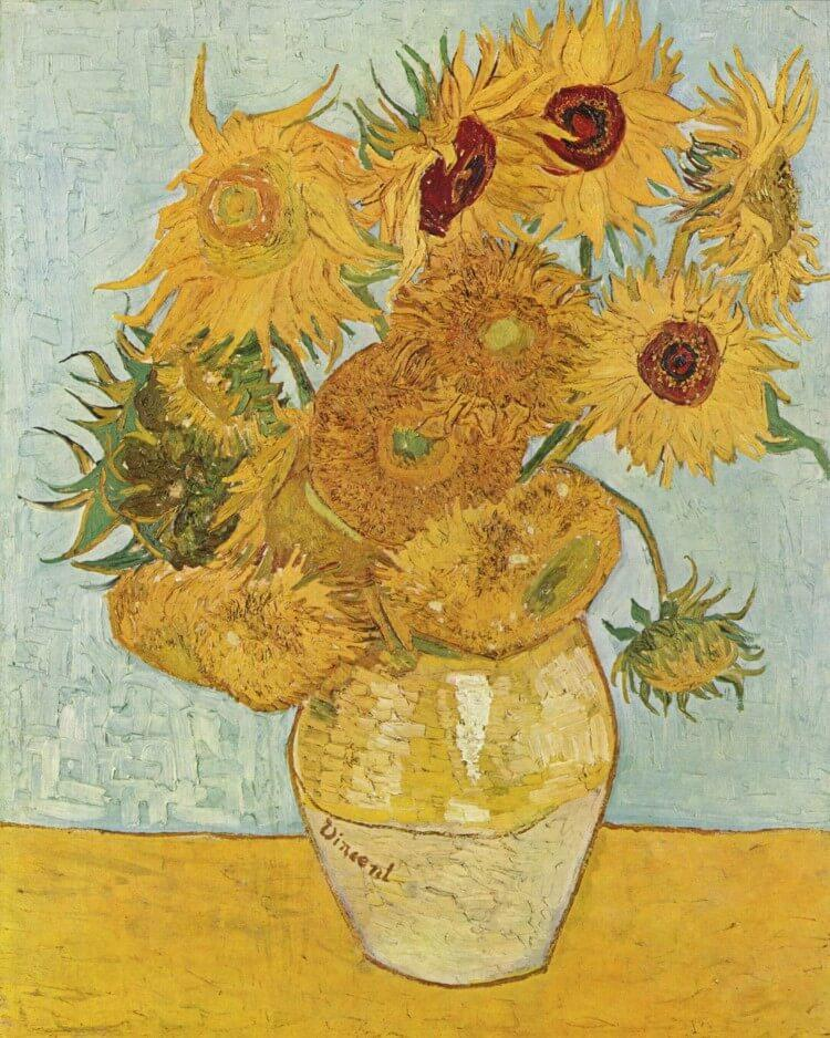 12 słoneczników w wazonie - Vincent van Gogh