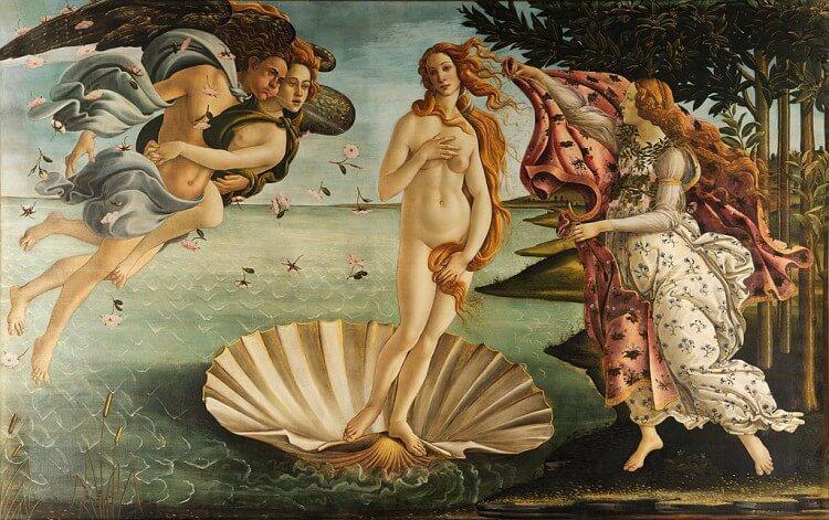 Znane obrazy - Narodziny Wenus - Sandro Botticelli