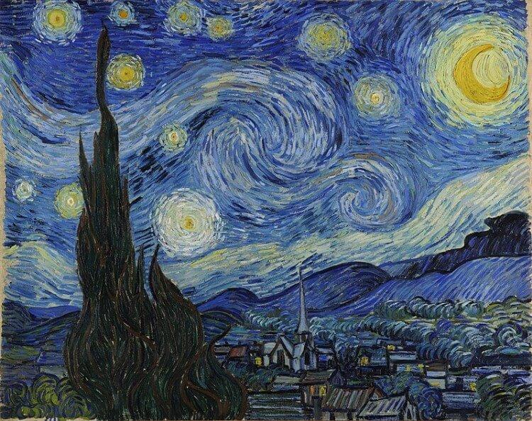 Słynne obrazy znanych malarzy - Gwiaździsta Noc - Vincent van Gogh