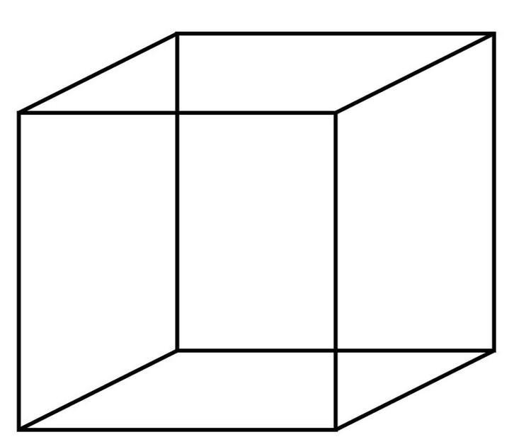 Sześcian Neckera - złudzenie optyczne
