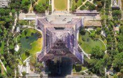 Wieża Eiffla z lotu ptaka