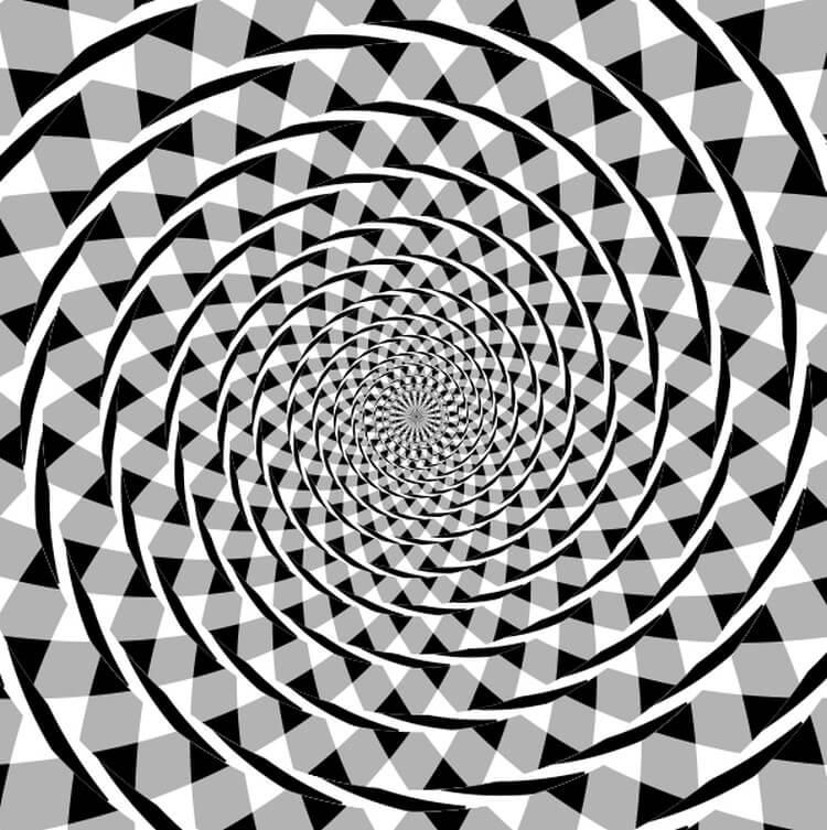 złudzenie optyczne nazywane Spiralą Frasera