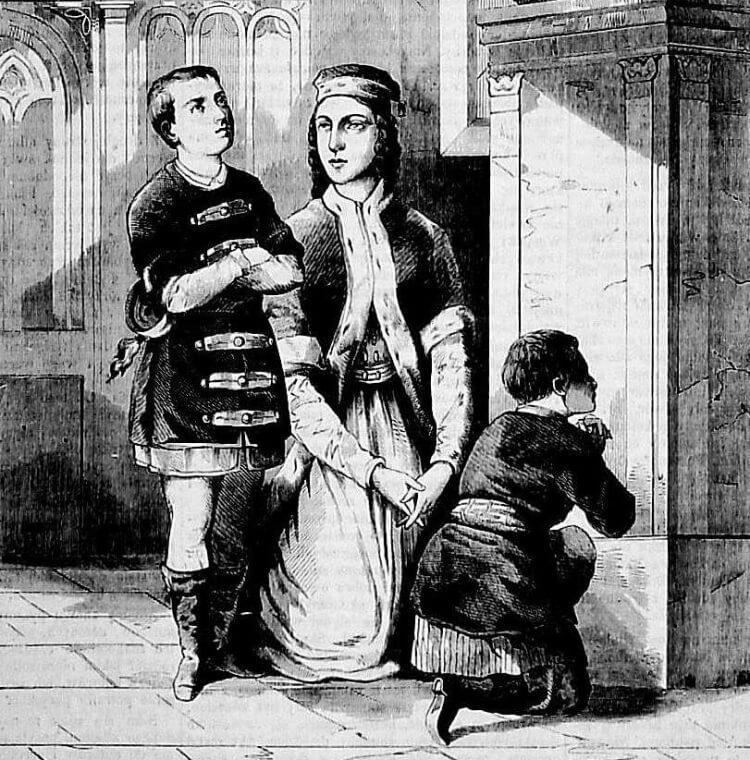 Jan Sobieski z matką i bratem