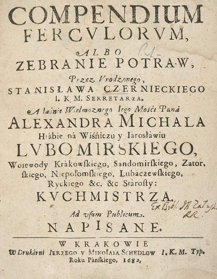 pierwsza Polska książka kucharska