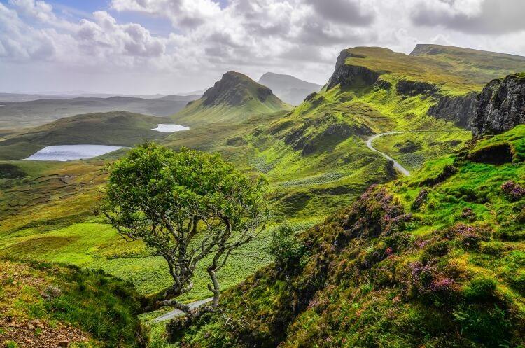 Quiraing na wyspie Skye