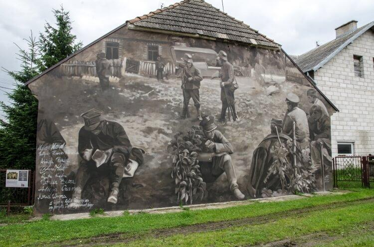 Wizna mural