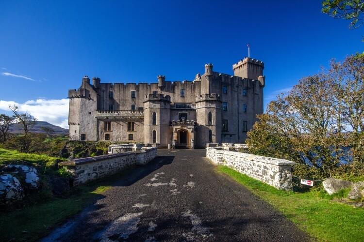 Zamek Dunvegan - wyspa Skye, Szkocja