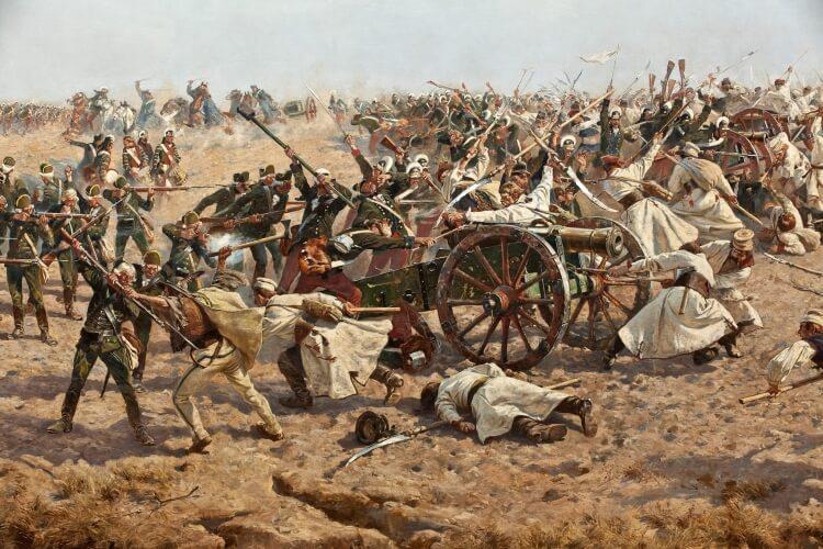fragment obrazu Bitwa pod Racławicami