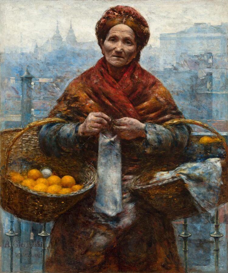 Żydówka z pomarańczami
