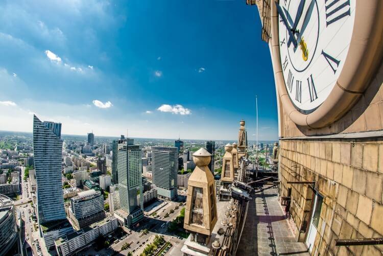 Zegar Milenijny Pałac Kultury i Nauki w Warszawie