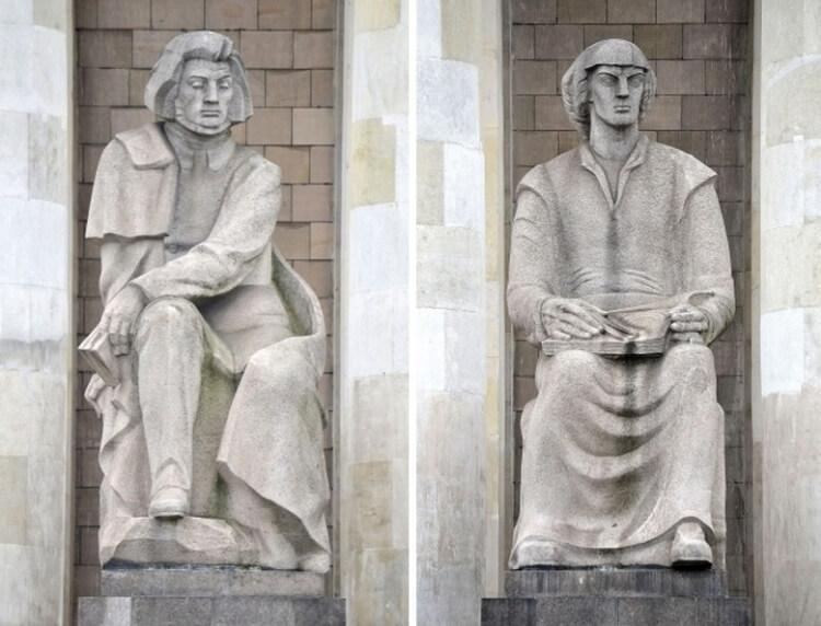 Pomnik Mickiewicza i Kopernika Pałac Kultury