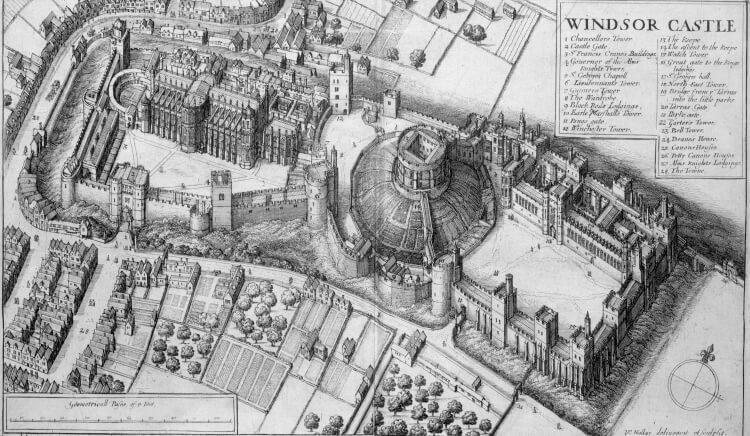 zamek Windsor dawniej