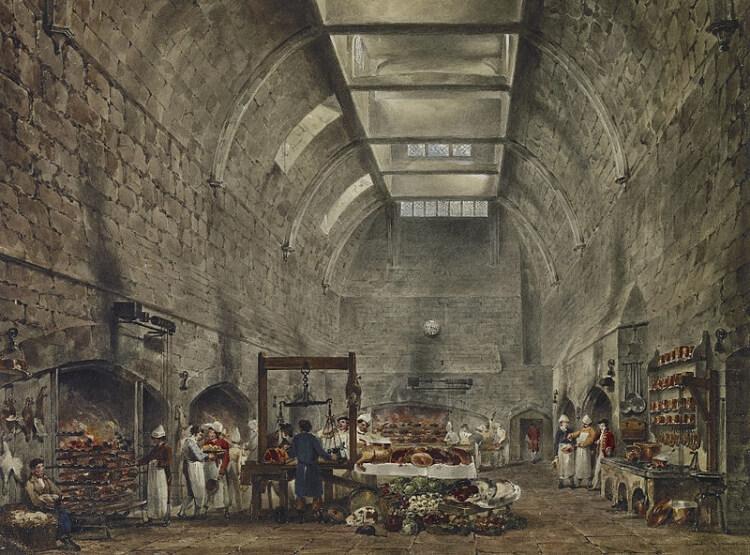 kuchnia w zamku Windsor