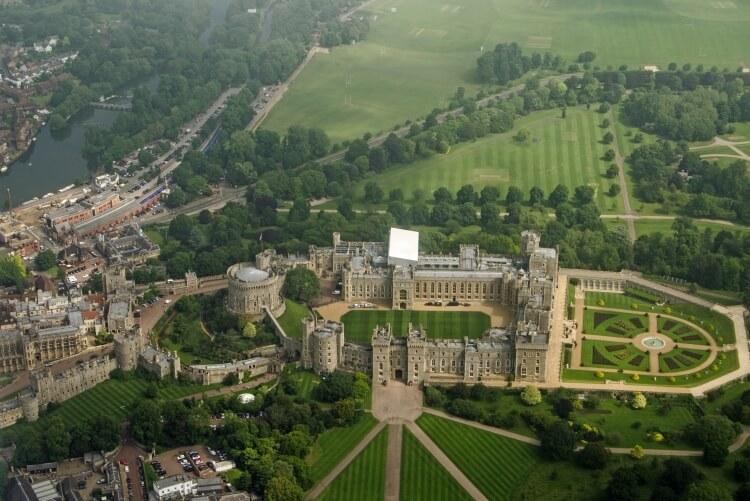 zamek Windsor z lotu ptaka
