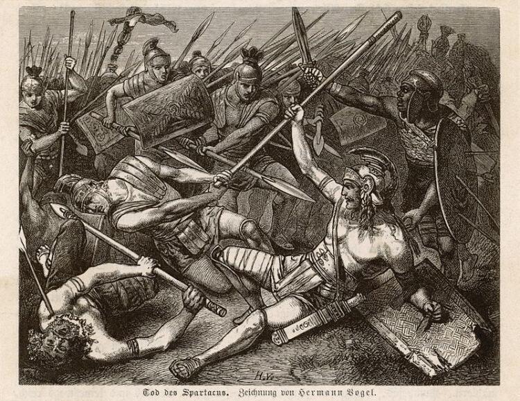 Śmierć gladiatora Spartacusa