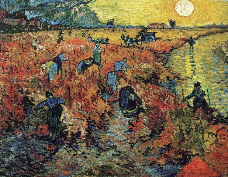 Czerwona winnica – obraz olejny Vincenta van Gogha