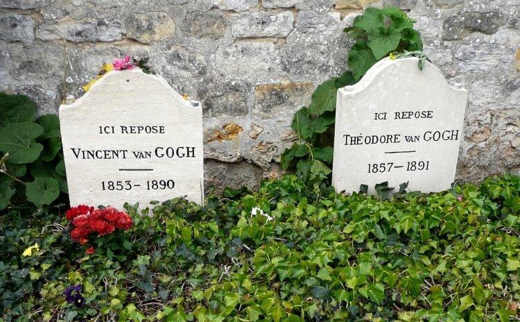 Wspólny grób braci Vincenta i Theo van Goghów w Auvers-sur-Oise